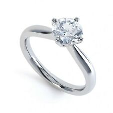 GIA Certified 1.17CT Natural Diamond Awesome Engagement  Ring In 14K Gold G-VVS1