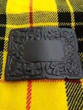 Scottish Kilt Belt Buckle Thistle Crest Matt Black Finish/Kilt Belt Buckle/kilt