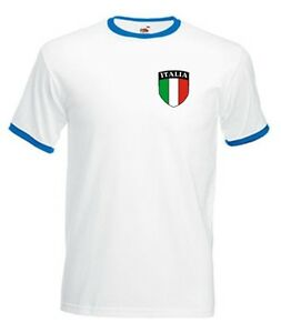 Italy Italian Italia Retro White National Football Team T-shirt - All Sizes