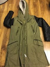 H&M Ladies Hoodie Parka Winter Warm Long Jacket Size 8