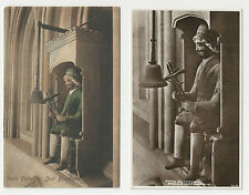 Two Different Postcards, Jack Blandiver, Wells Cathedral