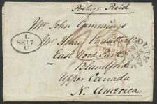 1844 Trans-Atlantic Southampton to Woodstock UC, Paid 1/2
