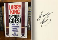 Anything Goes HAND SIGNED by Larry King! CNN! Larry King Live! TV Icon! 1st/1st!