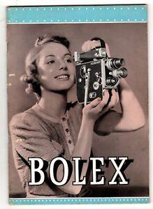 BOLEX Professional 16mm Motion Picture Camera Model H-16 Manual 1941 Price List