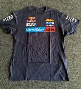 Troy Lee Designs KTM Red Bull OFFICIAL Team T-Shirt Blue Navy M - L - XL