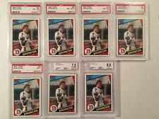 (7) 1984 Topps #63 John Elway Rookie Cards PSA 8 And More