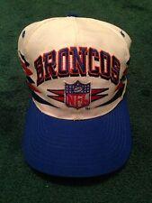 Mens Rare Vintage Designer 90s Logo Athletic ProLine Denver Broncos NFL Snapback