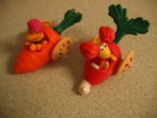 Lot of 2 1988 McDonalds Fraggle Rock Vegetable Cars Gobo in Carrot Red in Radish