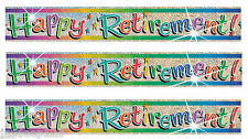 12 Feet Happy Retirement Party Foil Banner Wall Decorations Leaving Job Glitz