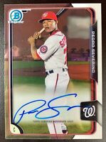 PEDRO SEVERINO 2015 Bowman Chrome Autograph Rookie Auto RC #BCAP-PS Orioles