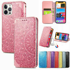 For iPhone 12 Pro Max 11 6s 7 8 Xr Magnetic Flip Leather Case Wallet Cards Cover