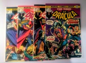 Tomb Of Dracula  #27, 28, 29, 30  (Marvel 1974 + 1975)     FN+  to  VF