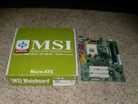 MSI Mainboard Designed for AMD Athlon XP/Athlon/Duron Processor - Untested