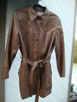 Vintage Brown Wilson House of Suede and Leather Jacket Size 6 w/Original Defects
