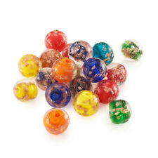 20pcs Random Handmade Lampwork Glass Beads Round Gold Sand Loose Bead Craft 12mm