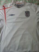 Inglaterra 2007-2008 Blanco Umbro Manga Corta Hogar Camiseta De Fútbol De Tamaño Grande