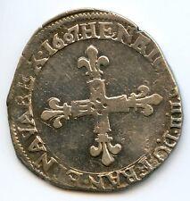 Henri IV (1589-1610) Quart d'écu 1607 H La Rochelle