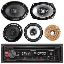 "Kenwood Car Cd AUX Radio, Kenwood 6x9"" and 6.5"" Speakers, 50FT 18G Speaker Wire"