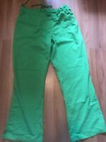 Grey's Anatomy scrubs women Small Pants Bottoms- Bright Lime Green