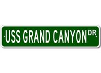 USS GRAND CANYON AR 28 Ship Navy Sailor Metal Street Sign - Aluminum