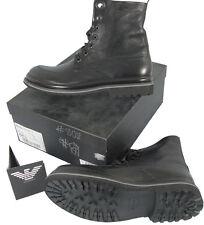 NEW! $895 Giorgio Armani Emporio Black Boots!  e 45.5 Approx. US 12.5