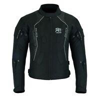ARN® Black Mens Motorcycle Waterproof Cordura Textile Jacket Motorbike CE Armour