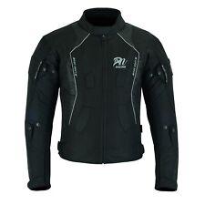 ARN Black Mens Motorcycle Waterproof Cordura Textile Jacket Motorbike CE Armour