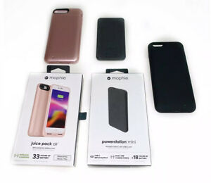Mophie Iphone 7S Plus Pink Juice Pack Air Power Station Mini Black Lot $240