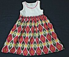 NWT GYMBOREE Sleeveless Orchid Pink Batik Print Summer Cotton Dress Girls 6