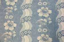"COLEFAX AND FOWLER CURTAIN FABRIC DESIGN ""Caldbeck"" 8.1 METRES BLUE 100% LINEN"