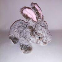 "Stuffed Animal Rabbit Easter Plush Gray Bunny Soft Toy Kids 8.5"""