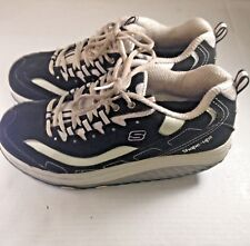 Shape Ups by Skechers Womens Black and White Toner Sneakers Size 10
