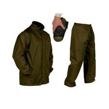 Vass Lightweight Khaki Waterproof Packaway Jacket and Trouser Set *All Sizes*