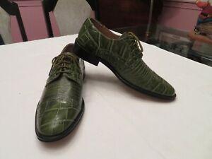 Giorgio Brutini Crocodile/Alligator/Snake Skin Men's Dress Shoes Green Size 9M