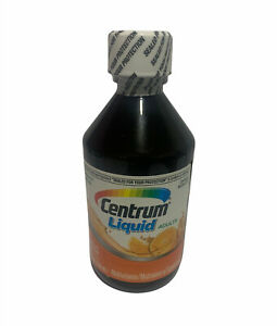 Centrum Liquid Adults Multivitamin 8oz Citrus Flavor BRAND NEW SEALED! 09/2021