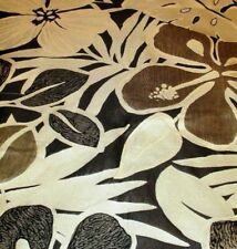 Fabric Material  cloth  CREAM BROWN contemporary floral SILK luxury size 50x70cm