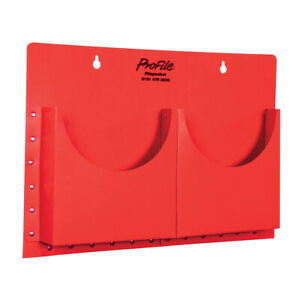 CLASSROOM OFFICE A4 FILAPOCKET 2 POCKETS WALL HANGING STORAGE - RED
