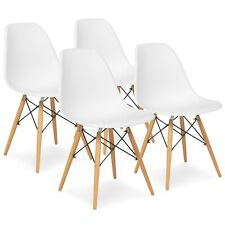 Set of 4 Retro Chairs In White