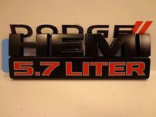 15-16 Dodge Ram 1500 2500 New 5.7L Hemi Flat Black Emblem Nameplate Mopar Oem