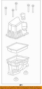 Jeep CHRYSLER OEM Cherokee Air Cleaner Box-Bottom Lower Housing Body 68228247AC
