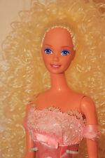 Valentine's Dance! Sunny Blond Curly Pt Barbie Doll Reroot OOAK