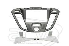 2-DIN Radioblende Ford Transit Tourneo Custom Einbaurahmen Radiohalterung Silber
