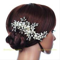 Wedding Bridal Hair Comb Crystal Fauxl Pearl Hair Clip Headpiece Hair Accessory