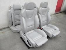 RECARO Lederausstattung Sportsitze Audi A4 S4 B6 8E LEDER Sitz silber hellgrau