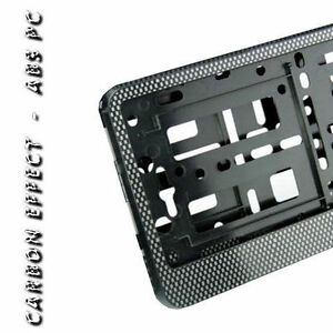 Pair Carbon Number Plate Surrounds Holder Frame For Cars Vans New