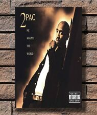 Tupac 2pac Me Against The World Rap Poster Fabric 8x12 20x30 24x36 E-2491