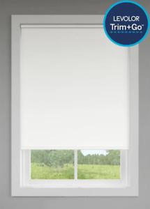 """LEVOLOR Trim & Go Room Darkening Window Roller Shade 37-1/4"""" x 66"""" White (#139)"""
