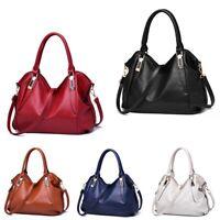 Women PU Leather Cross Body Shoulder Leisure Handbags Tote Bag Messenger Satchel
