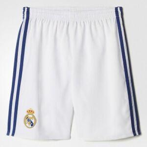 Real Madrid Football Shorts X Small Mens White/Blue Adidas