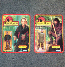 WILL SCARLETT & LITTLE JOHN - 2 ROBIN HOOD ACTION FIGURES - KENNER - 1991 - MOC
